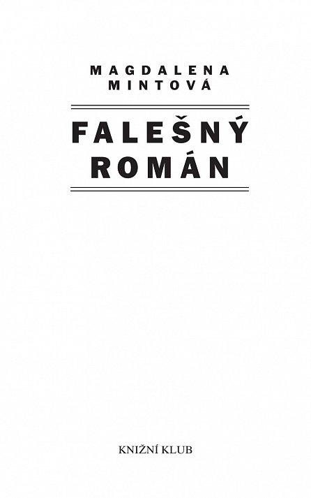 Náhled Falešný román
