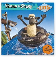 Kalendář 2015 - Ovečka Shaun - nástěnný (CZ, SK, HU, PL, RU, GB, DE, ES)