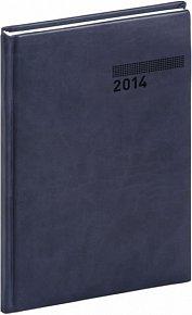 Diář 2014 - Tucson-Vivella - Týdenní B5, tmavě modrá (ČES, SLO, ANG, NĚM)