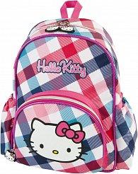 Batoh dětský Hello Kitty růžovo/světle modrý s kostkami