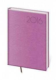 Diář 2016 - Print kapesní týdenní - fialová