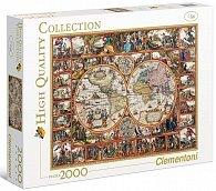 Puzzle 2000 dílků Mapa