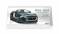 Kalendář stolní 2016 - Auta 321x134