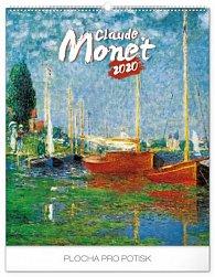 Kalendář nástěnný 2020 - Claude Monet, 48 × 56 cm