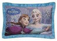Polštářek Ledové království Anna a Elsa modrý