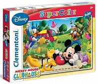 Puzzle Supercolor Mickey Mouse 2x20 dílků