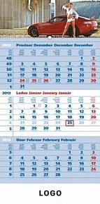 Kalendář 2013 - Girl modrý 3měsíční s če