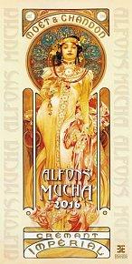 Kalendář nástěnný 2016 - Alfons Mucha/Exklusive