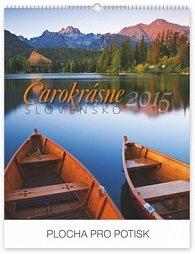 Čarokrásne Slovensko so slovenskými menami Praktik SK - nástenný kalendár 2015