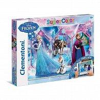 Puzzle Supercolor Ledové království App 104 dílků