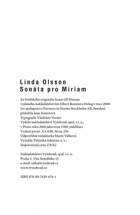 Náhled Sonáta pro Miriam