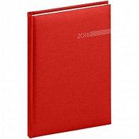 Diář 2016 - Capys - Týdenní A5, červená,  15 x 21 cm