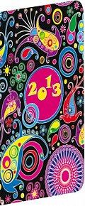 Diář 2013 - Kapesní plánovací měsíční - Color, lesklé lamino, 8 x 18 cm