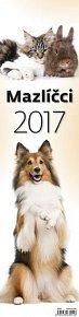Kalendář nástěnný 2017 - Mazlíčci