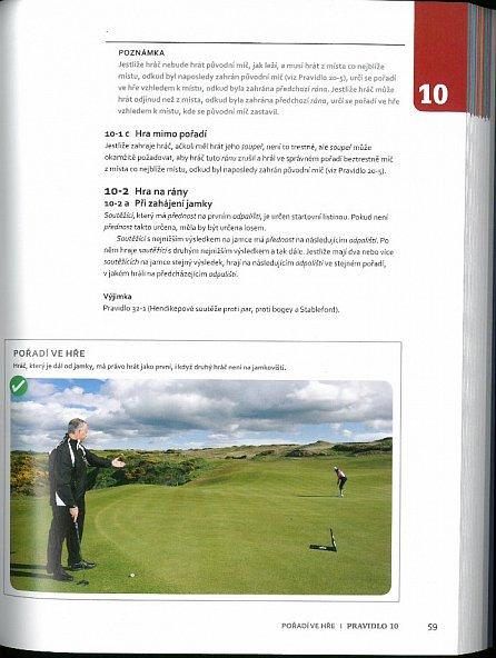 Náhled Ilustrovaná Pravidla golfu