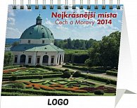 Kalendář 2014 - Nejkrásnější místa Čech a Moravy Praktik - stolní