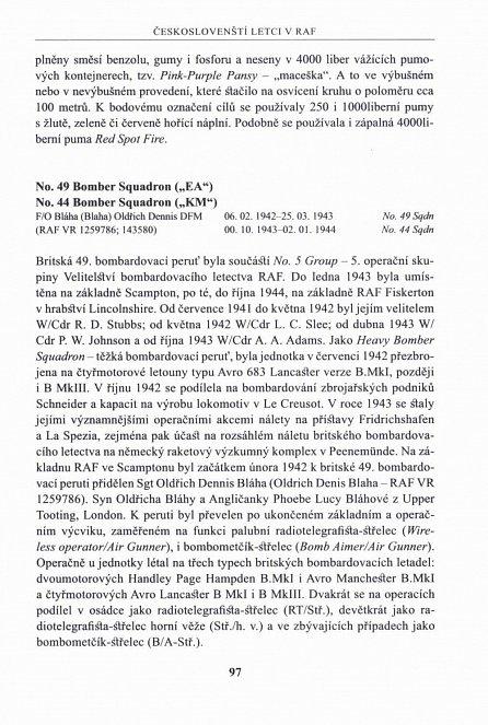 Náhled Českoslovenští letci v RAF - Jednotky britského bombardovacího a pobřežního letectva 1940-1945