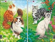 Puzzle MIDI - Kočky/10 dílků (2 druhy)