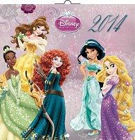 Kalendář 2014 - W. Disney Princezny - nástěnný poznámkový (ČES, SLO, MAĎ, ANG)