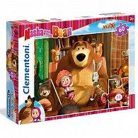 Puzzle Maxi Máša a Medvěd 60 dílků
