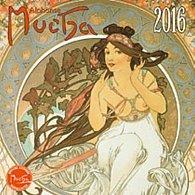 Kalendář 2016 - Alfons Mucha poznámkový 30 x 30 cm