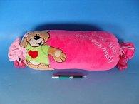 Plyšový polštářek 45 cm s medvědem