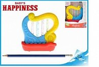 Harfička 11cm na baterie s melodiemi a světlem