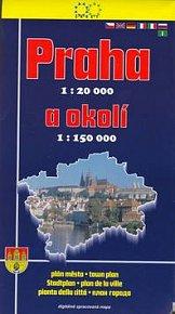 Praha 1:20 000 a okolí 1:150 000 Plán města 2. vydání
