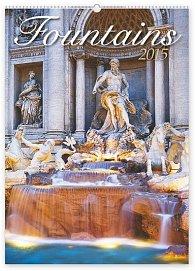 Kalendář 2015 - Fontány - nástěnný s prodlouženými zády