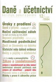 Daně a účetnictví bez chyb, pokut a penále 12/2004