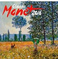 Kalendář nástěnný 2016 - Claude Monet, poznámkový  30 x 30 cm