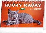 Kalendář stolní 2018 - Kočky – Mačky CZ/SK, 23,1 x 14,5 cm