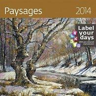 Kalendář 2014 - Paysages - nástěnný