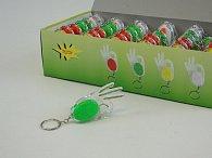 Přívěšek na klíče ručíčka - svítící 7 cm