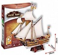 Puzzle 3D Jachta Mary - 83 dílků