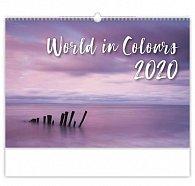 Kalendář nástěnný 2020 - World in Colours