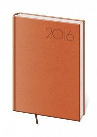 Diář 2016 - Print A5 denní - oranžová