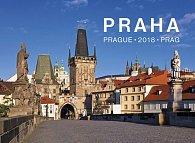 Kalendář nástěnný 2018 - Praha – Prague, 33,5 x 29 cm