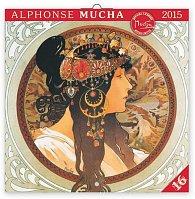 Kalendář 2015 - Alfons Mucha - nástěnný (CZ, SK, HU, PL, RU, GB)