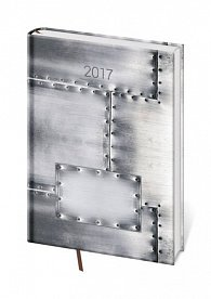 Diář 2017 - Vario/týdenní A5 Steel