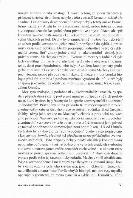 Náhled Mimikry a příbuzné jevy - Dějiny poznávání a výkladu vnějšího vzhledu živých organismů
