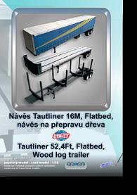 Návěs Tautliner 16M 3v1 - Stavebnice papírového modelu