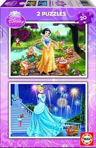 Puzzle Disney Princezny 2v1 20 dílků