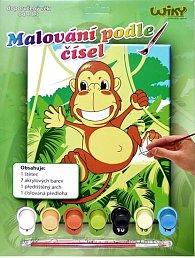 Malování podle čísel - Opice
