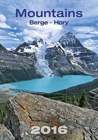 Kalendář nástěnný 2016 - Mountains/Berge/Hory
