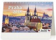 Kalendář stolní 2018 - Praha 226x139