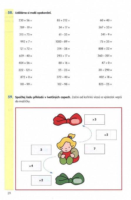 Náhled Matematika pro 3. třídu - Domácí pracovní sešit