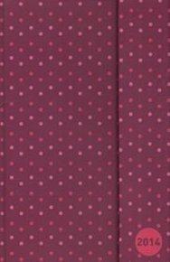 Diář 2014 - Tečky magenta, 10,5 x 15,8 cm (ANG, NĚM, FRA, ITA, ŠPA, HOL)