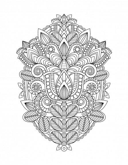 Náhled Antistresové omalovánky: Květinové vzory