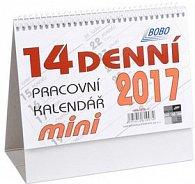14denní pracovní kalendář mini 2017 - stolní kalendář